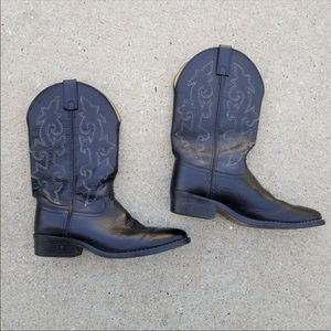 Justin Style 6001 Black Western Boots